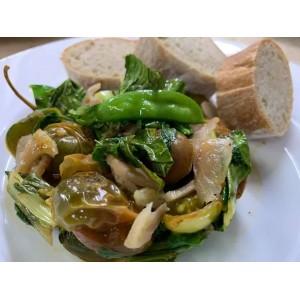 Salteado de verduras con...